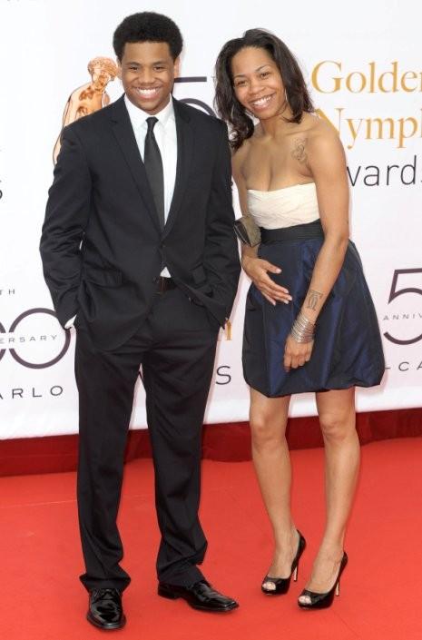 Tristan Wilds, star di 90210, con la sorella alla cerimonia di chiusura dell'edizione 2010 del Television Festival di Montecarlo