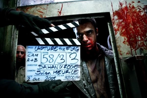 Un'immagine dal set del film The Horde