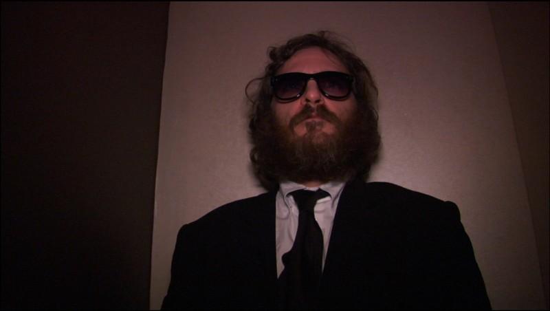 Un'immagine di Joaquin Phoenix dal film I'm Still Here
