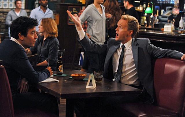 Josh Radnor e Neil Patrick Harris in una scena dell'episodio Big Days, premiere della stagione 6 di How I Met Your Mother