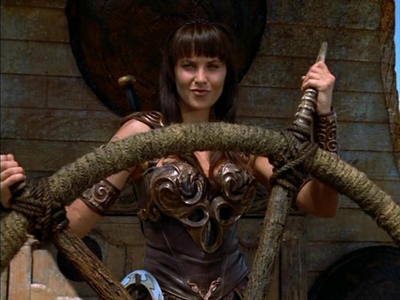 Lucy Lawless in Xena e il ritorno di Ulisse