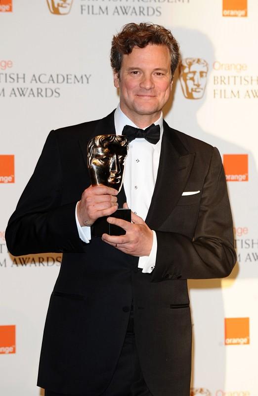Colin Firth con il premio BAFTA 2010 come miglior attore per il film A Single Man