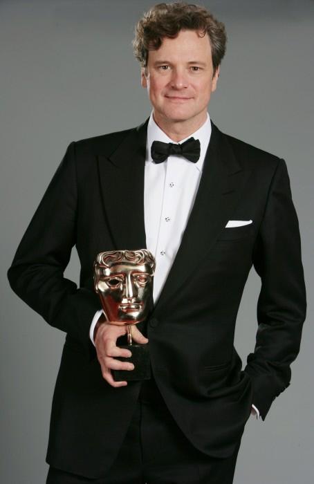 Colin Firth con il premio BAFTA come miglior attore per il film A Single Man