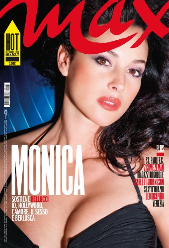 Monica Bellucci sulla cover di Max Italia (settembre 2010)