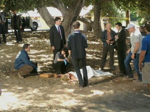 Un'immagine dal set della stagione 6 di Criminal Minds
