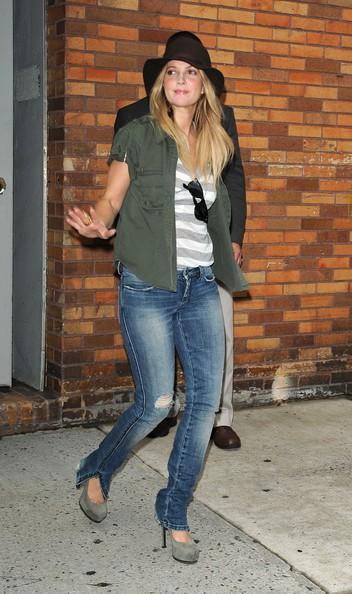 un'incantevole Drew Barrymore a New York
