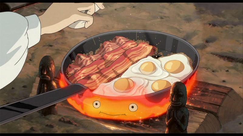 Una scena del film d\'animazione Il castello errante di Howl