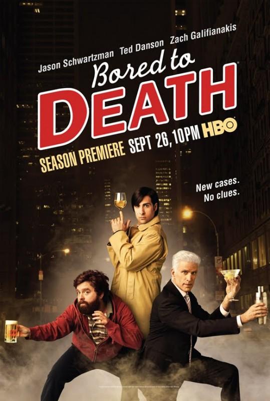 Un poster della stagione 2 di Bored to Death