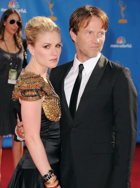 Anna Paquin e Stephen Moyer di True Blood all'edizione 2010 degli Emmy Awards