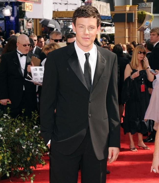 Cory Monteith dal cast di Glee, sul red carpet degli Emmy 2010