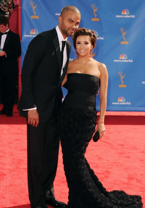 Eva Longoria insieme a Tony Parker sul red carpet degli Emmy 2010