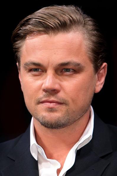 DiCaprio durante una conferenza stampa di Inception