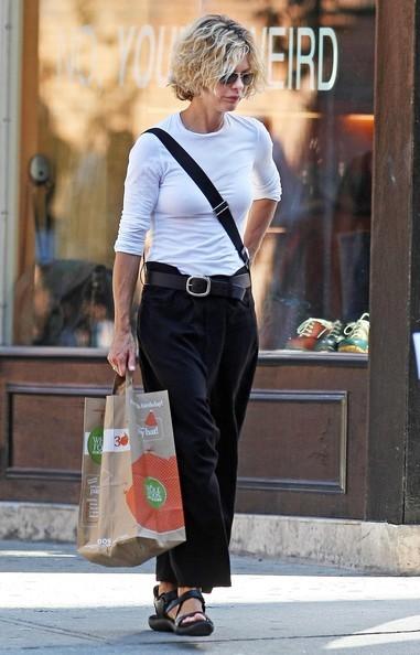 Meg Ryan fa acquisti da Whole Foods a New York