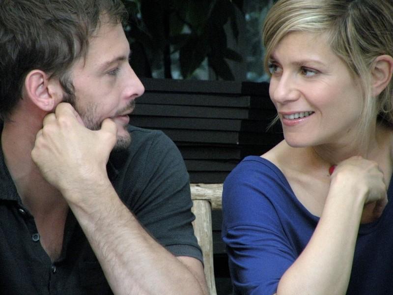 Nicolas Duvauchelle e Marina Fois nel film Happy Few