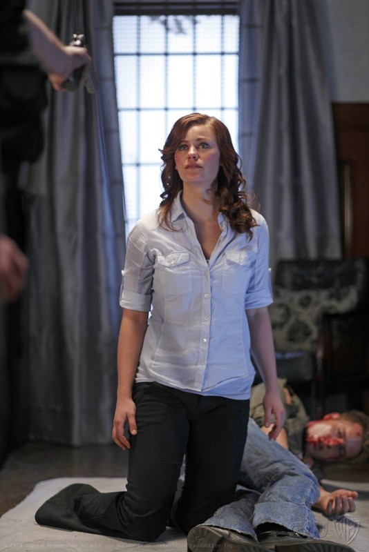 Smallville: Tess Mercer (Cassidy Freeman) in una seqenza dell'episodio La regina rossa