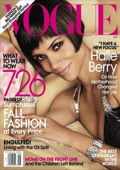Halle Berry scelta da Anna Wintour per Vogue US settembre 2010