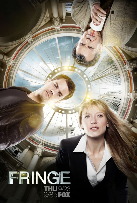 Un poster della stagione 3 di Fringe