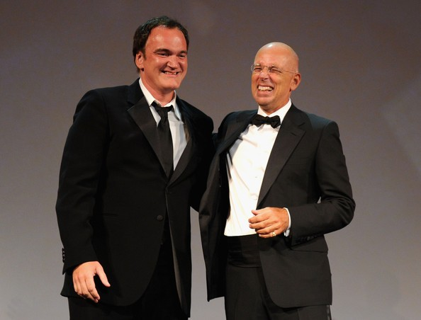 Venezia 2010: Quentin Tarantino e Gabriele Salvatores durante la cerimonia d'apertura