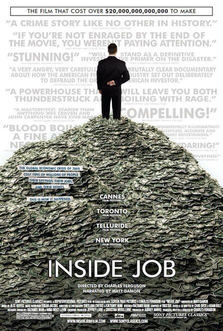 Nuovo poster per il documentario Inside Job