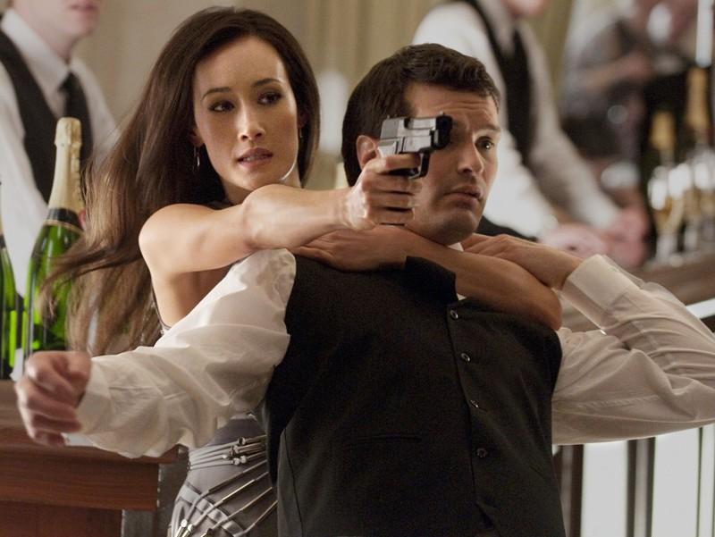Maggie Q in una scena d'azione del pilot della nuova serie CW: Nikita