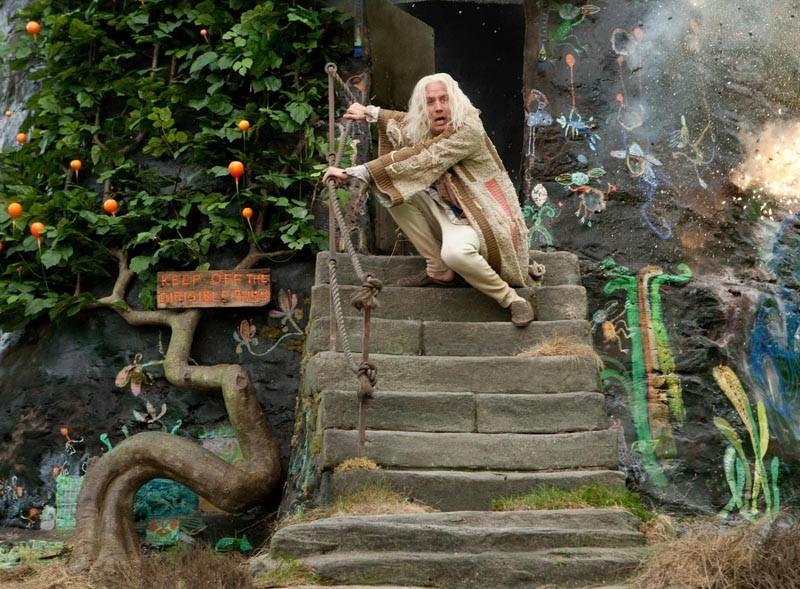 Rhys Ifans nei panni di Xenophilius Lovegood nel film I Doni della Morte - parte 1