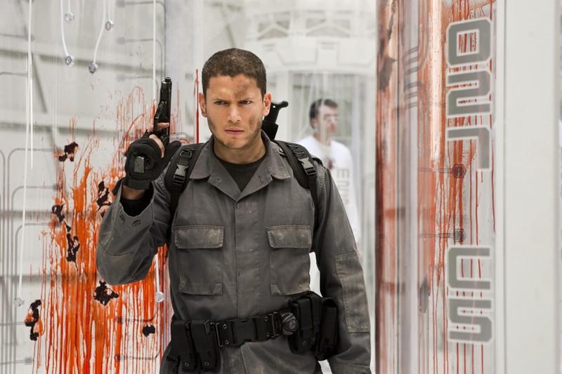 Un determinato Chris (Wentworth Miller) nel film Resident Evil: Afterlife