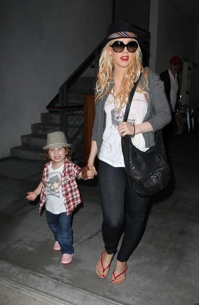 Christina Aguilera con suo figlio Max