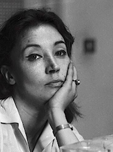 La scrittrice e giornalista Oriana Fallaci