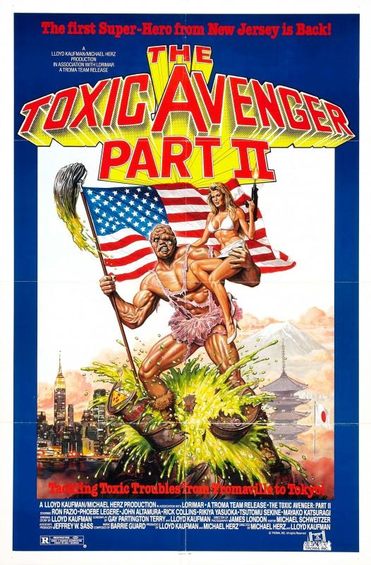 La locandina di The Toxic Avenger Part II
