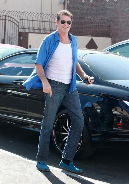David Hasselhoff arriva agli studio di Hollywood