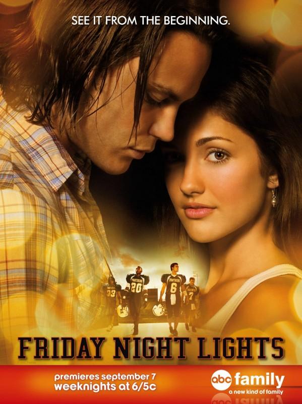 Un poster di Friday Night Lights realizzato per la sua programmazione su ABC Family