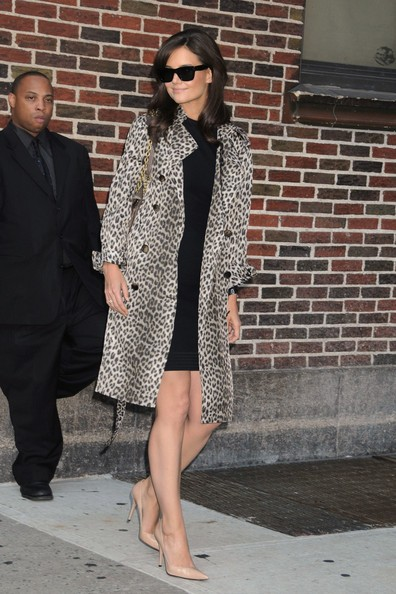 Katie Holmes all'uscita del Late Show di David Letterman a New York