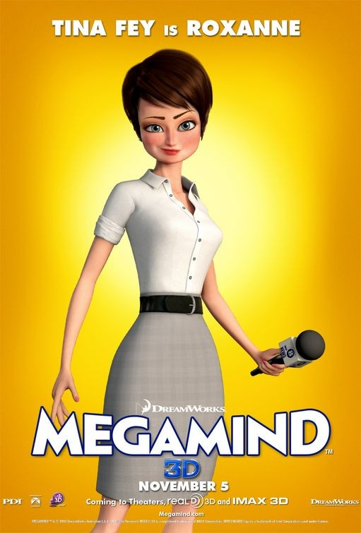 Character poster per Megamind - Roxanne (Tina Fey)