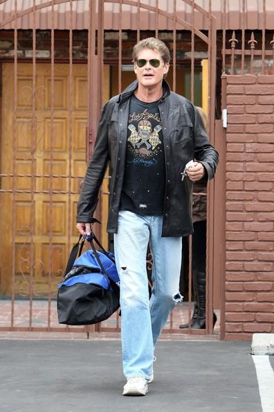 David Hasselhoff agli Studios di Los Angeles per le prove di 'Dancing with the Stars'