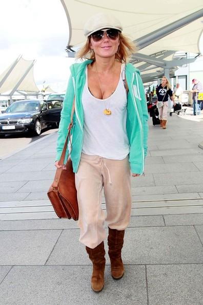 Geri Halliwell all'aeroporto di Heathrow