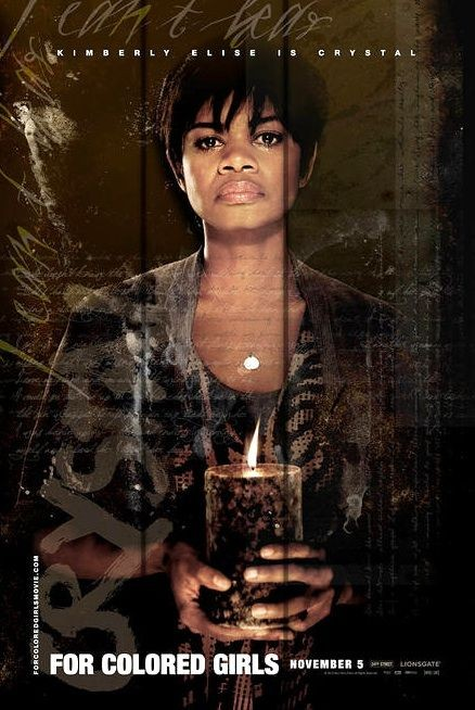 Character poster per Kimberly Elise (Crystal) per il film For Colored Girls Who Have Considered Suicide When the Rainbow Is Enuf