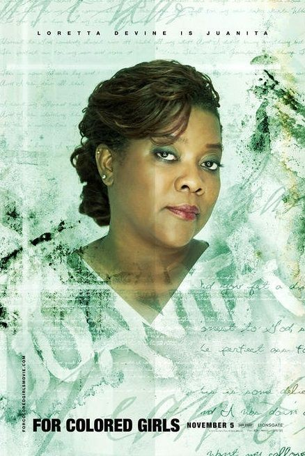Character poster per Loretta Devine (Juanita) per il film For Colored Girls Who Have Considered Suicide When the Rainbow Is Enuf