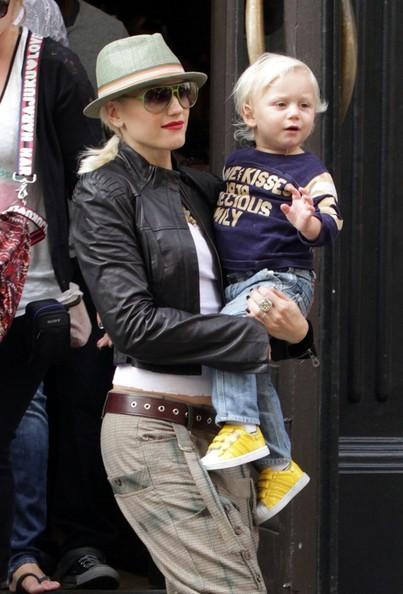 Gwen Stefani con il figlio Zuma