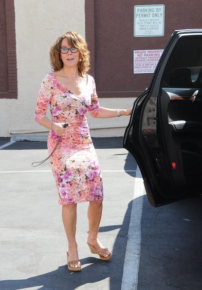 Jennifer Grey fuori dai CBS Studios di Los Angeles per le prove di: 'Dancing With The Stars'