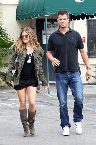 Josh Duhamel e la moglie Fergie vanno a pranzare al 'QS' di Los Angeles