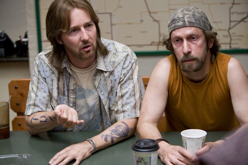 Edward Norton con Tim Blake Nelson, attore e regista del film Leaves of Grass