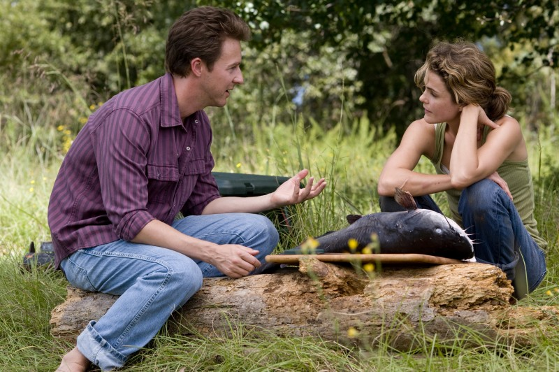 Edward Norton e Keri Russell insieme nel film Leaves of Grass