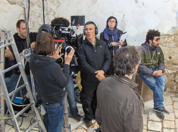 Paolo Sassanelli sul set di UERRA