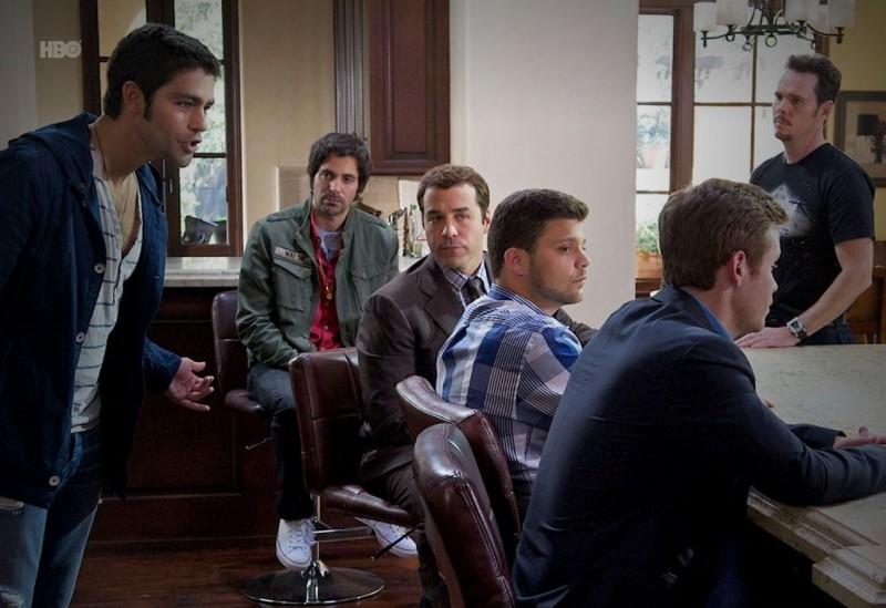 Adrian Grenier, Rhys Coiro, Jeremy Piven, Kevin Dillon, Kevin Connolly e Jerry Ferrara nell'episodio Lose Yourself di Entourage