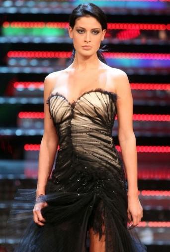 Francesca Testasecca durante una delle tre serate di Miss Italia 2010