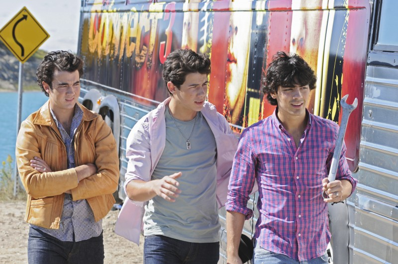 I Jonas Brothers in un momento di Camp Rock 2