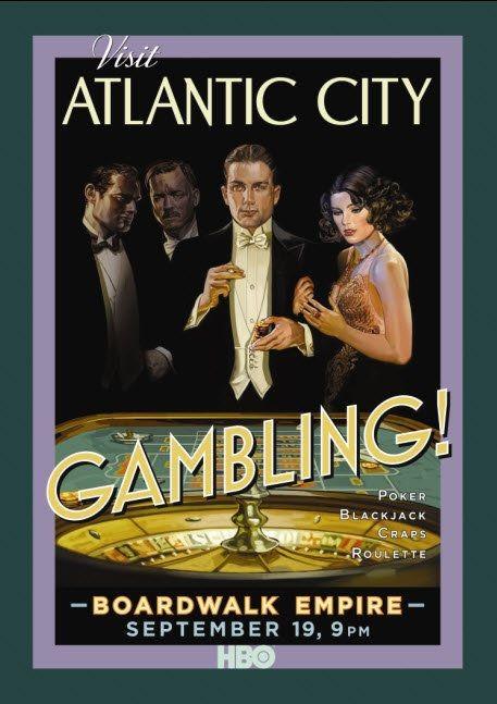 Poster della serie 'Visit Atlantic City' per Boardwalk Empire di Martin Scorsese
