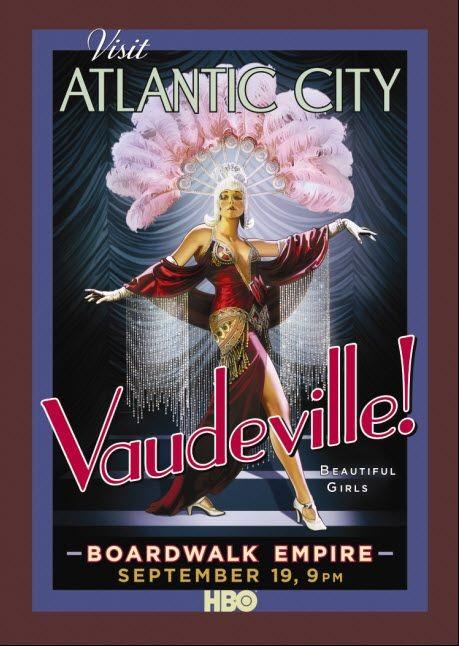 Poster promozionale della serie 'Visit Atlantic City' per Boardwalk Empire della HBO