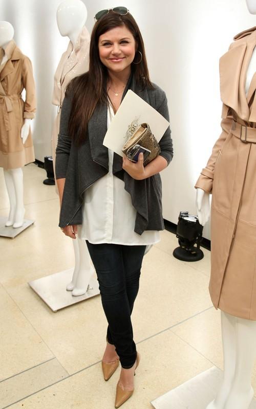 Tiffani Thiessen alla New York Fashion Week