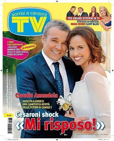 Cesaroni 4: Marta Zoffoli e Claudio Amendola sulla cover di Tv Sorrisi e Canzoni.